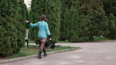 Woman Walking Park
