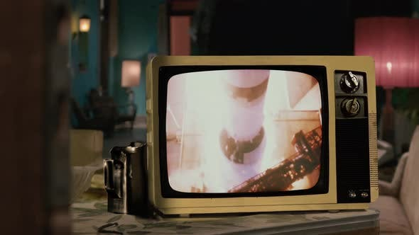 Thumbnail for Apollo 11 Launch in 1969 and an Old Television.