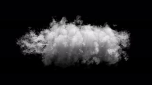 Cloud Isolated On black Background With Alpha