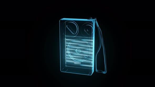 Portable Radio Hologram 4k