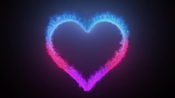 Burning Colorful Heart