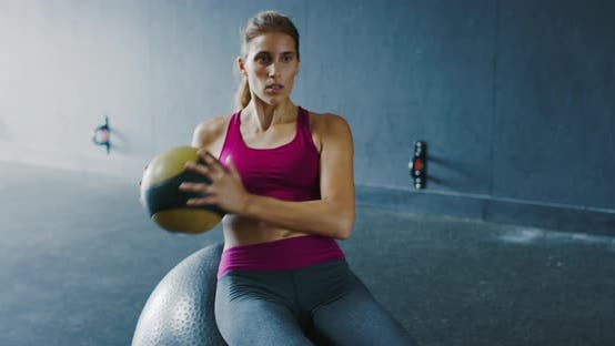 Thumbnail for Athletic Woman Training in the Gym