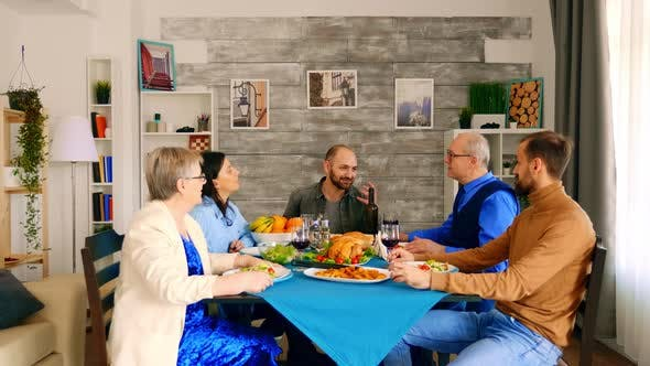 Thumbnail for Beautiful Multigenerational Family Having Dinner