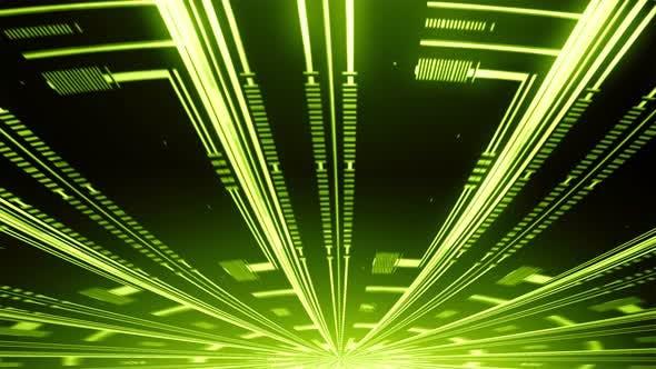 Thumbnail for Radial Tech Circle Rays Grren 03
