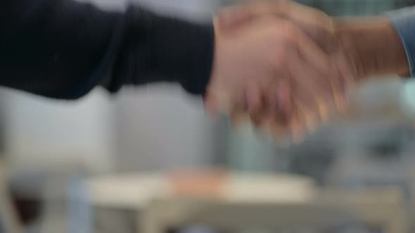 Thumbnail for Close Up of African Man and Caucasian Man Shaking Hands