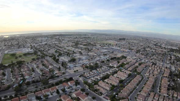 Thumbnail for Oxnard California Aerial Overhead Above Pleasant Valley And Southwinds Suburban Housing