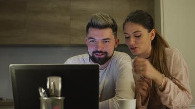 Couple searching on the internet