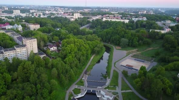 Thumbnail for Vitba River In The City Of Vitebsk. Dam