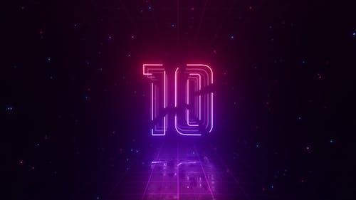 Top 10 Neon Countdown