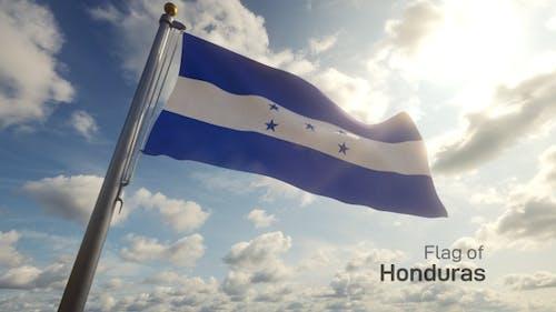 Honduras Flag on a Flagpole