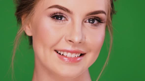 Thumbnail for Attractive Girl Smiling To the Camera