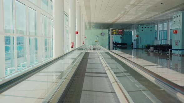 Airport Terminal Moving Walkway Travelator