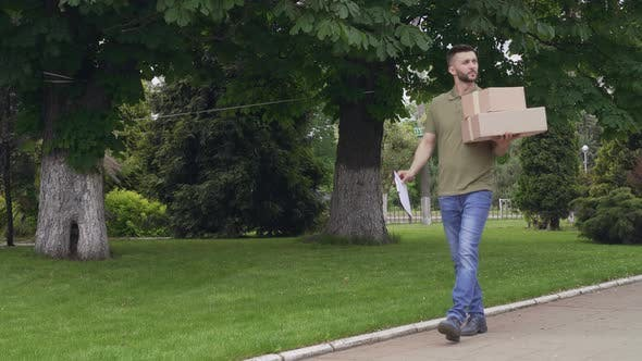 Thumbnail for Courier Looking for Proper Address To Deliver Parcels