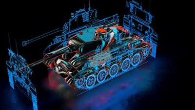 The Tank With Hud Hologram