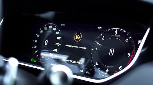 Low Level Of Fuel Show On Speedometer Dashboard