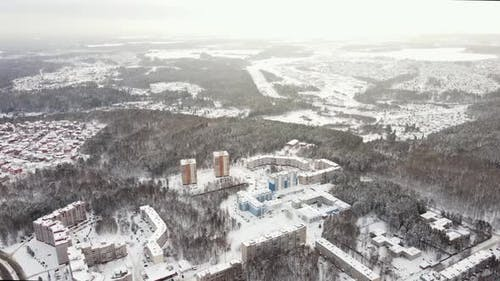 The Winter Landscape of the Russian City
