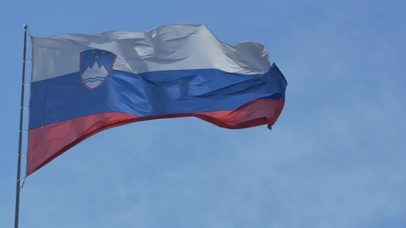 Thumbnail for Slovenia Flag In Wind