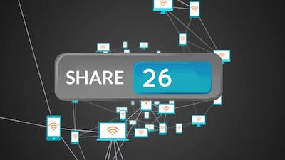 Share icon button and devices
