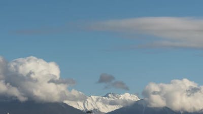 Beautiful Panorama of Clouds in the Mountains