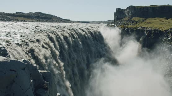 Epic and Powerful Dettifoss Waterfall Iceland Europe
