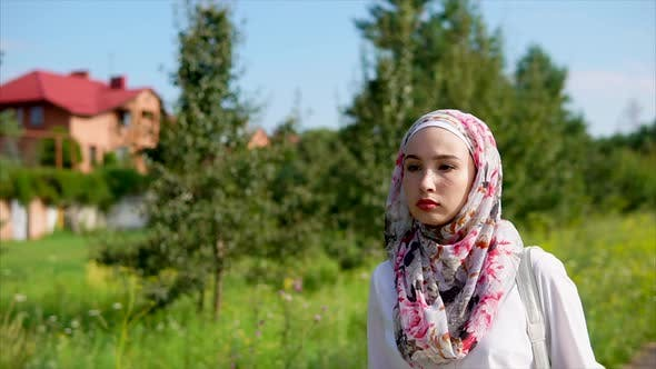 Thumbnail for Young Beautiful Muslim Woman Outdoor