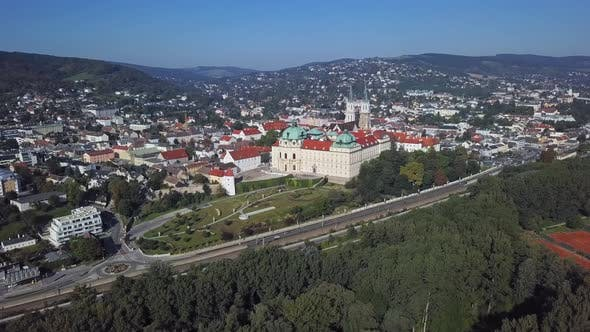 Cover Image for Aerial View of Klosterneuburg Monastery, Austria