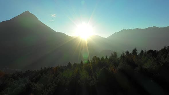 Thumbnail for Sun Rising over the Mountain Ranges in Austria