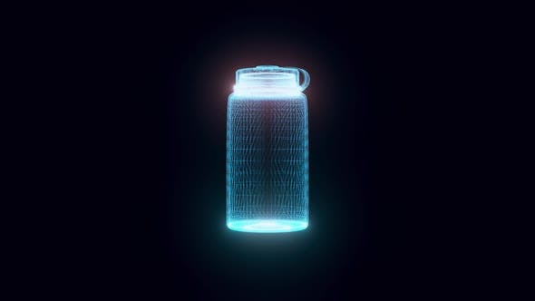 Water Bottle Or Thermos Hologram 4k