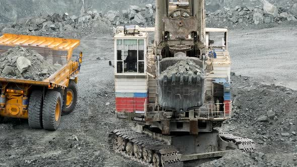 Thumbnail for Excavator Fills Of Truck