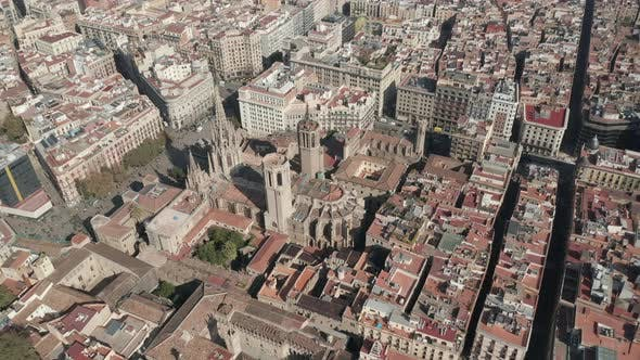 Thumbnail for Flight Over Barcelona Church