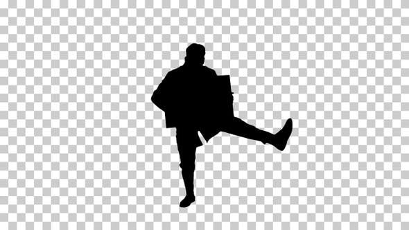 Thumbnail for Silhouette Happy smiling male doctor showing blank signboard