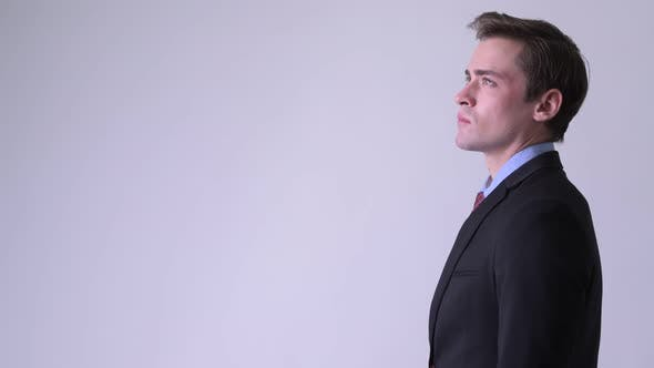 Thumbnail for Profile View of Young Handsome Businessman