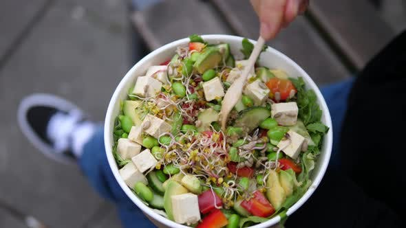 Gesunde Lebensmittel für schnelle Mahlzeiten für unterwegs