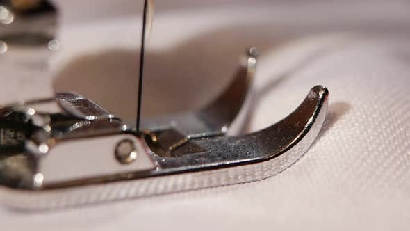 Thumbnail for Needle on the Sewing Machine. Slow Motion