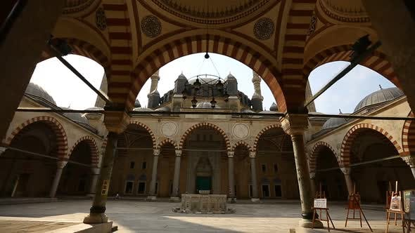 Thumbnail for Edirne Ottoman Magnificent Selimiye Mosque And Revaks Timelapse