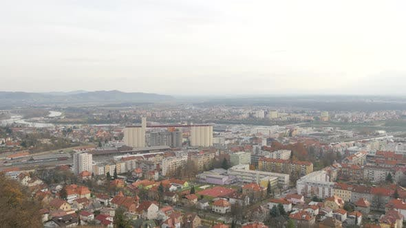 Thumbnail for Pan right of the city of Maribor