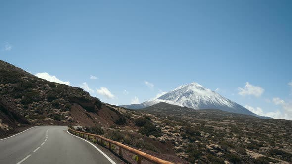 Thumbnail for Driving a Car in Teide National Park, Tenerife, Canary Islands, Spain. Volcanic Rocky Desert
