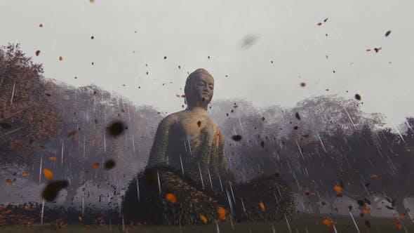 Thumbnail for 4K Buddha and Rain