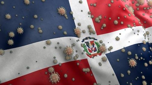 Covid Dominican Republic Flag / Corona Dominican Republic Flag