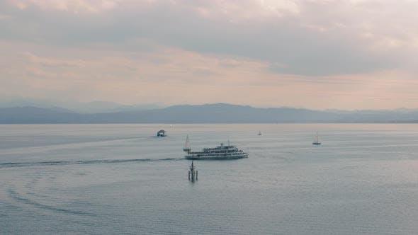 Thumbnail for Boat And Sailing Yachts Sail On Water