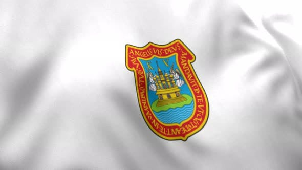 Puebla de Zaragoza City Flag (Mexico) - 4K