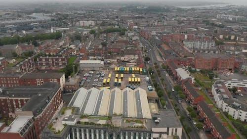 Slide and Pan Shot of Town Borough