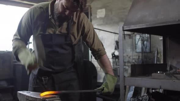 Thumbnail for Blacksmith Forging in Smithy