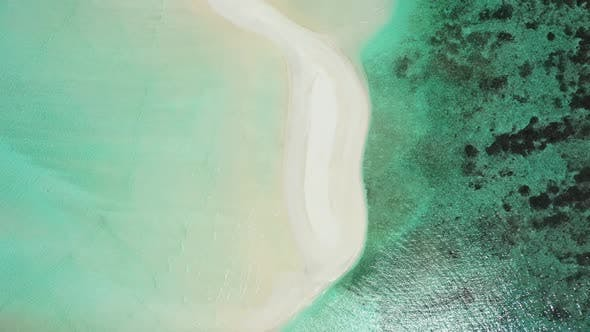 Thumbnail for Aerial texture of tropical tourist beach lifestyle by aqua blue water and bright sand background of
