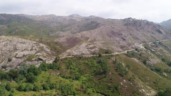 Thumbnail for Panoramic View of Serpentine Road on Amazing Mountain