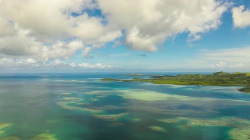 Seascape with Tropical Islands and Turquoise Water. Timelapse.