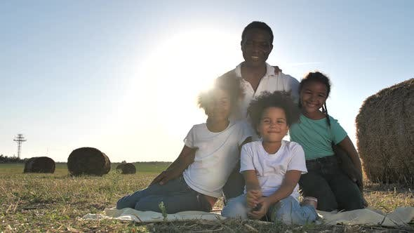 African American Family During Countryside Leisure