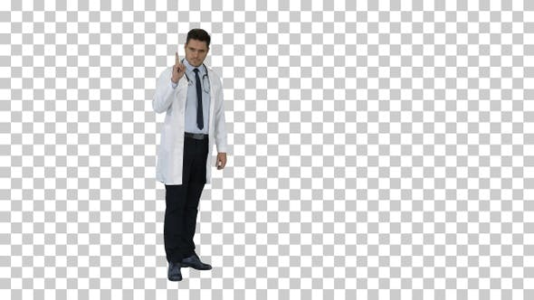 Thumbnail for Doctor Man Medical Professional Making a Point Gesture And