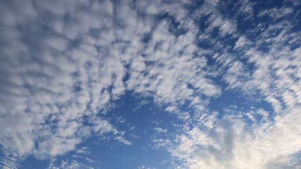 Blue Sky Puffy Cloud Time Lapse