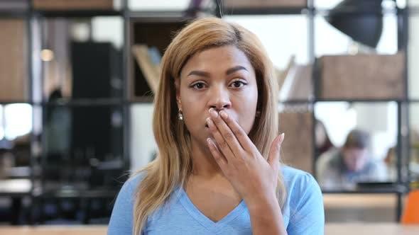Shock, Upset Black Girl Reacting on Loss